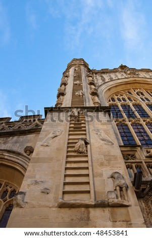 The stairway to heaven at Bath Abbey