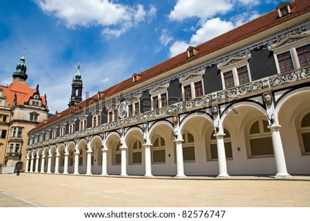 The Stallhof in Dresden, Germany - stock photo
