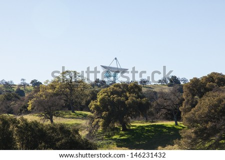 The Stanford Dish loop is a popular route in Palo Alto suitable for running, walking, and hiking. - stock photo