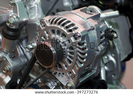 The starter motor of car - stock photo