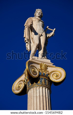 The statue of Apollo. Athens, Greece. - stock photo