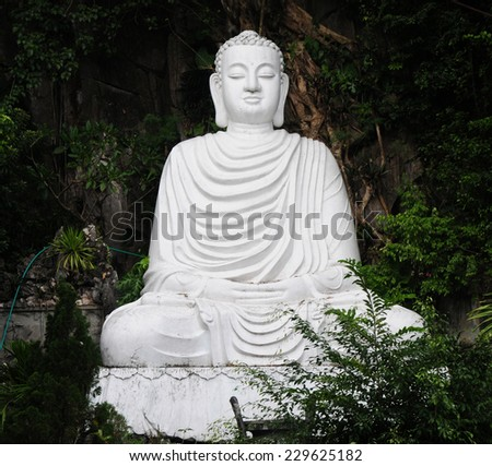 The statue of buddha in Non nuoc pagoda in Danang, Vietnam