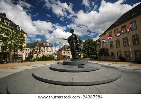 The statue of Grand Duchess Charlotte - stock photo