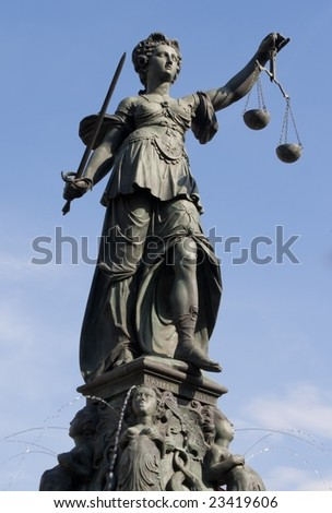 The Statue of Lady Justice in Frankfurt, Germany - stock photo