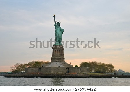 The Statue of Liberty in New York City, USA - stock photo