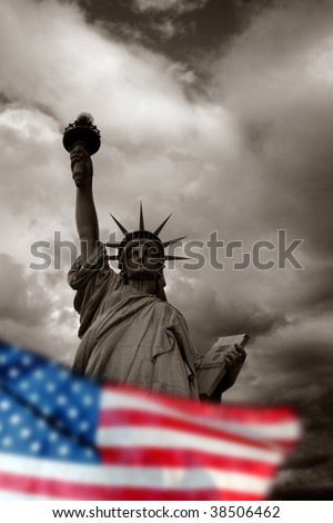 The Statue of Liberty in New York, USA - stock photo