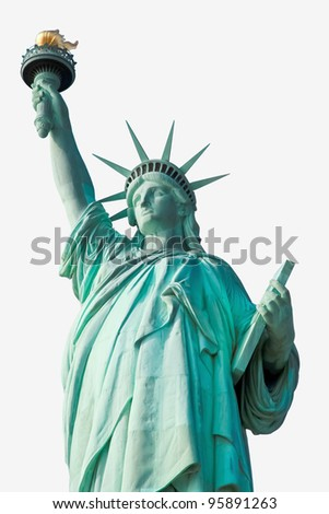 The Statue of Liberty isolated - stock photo