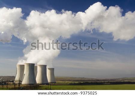 the steam turbine power plant Pocerady - Czech Republic - stock photo