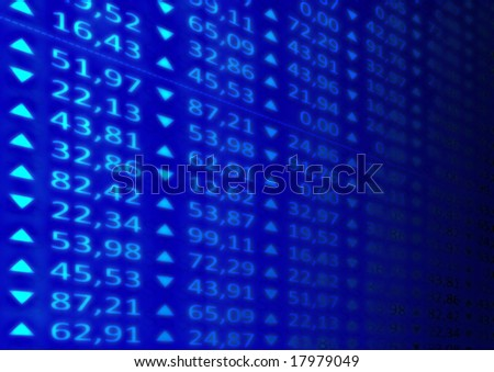The Stock Market - stock photo