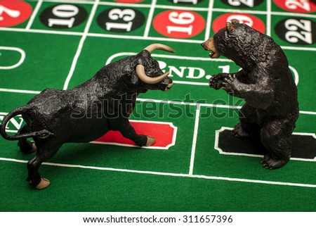 The stock market is the biggest casino in the world - stock photo