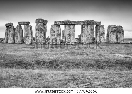 The Stonehenge - stock photo