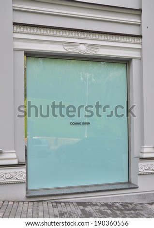 The storefront of shop before the opening - stock photo