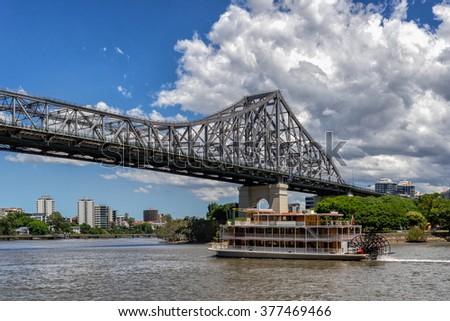 The Story Bridge in Brisbane - stock photo