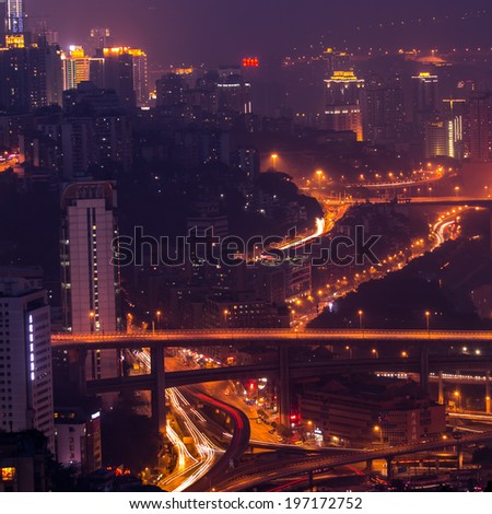 The street light in the city of ChongQing