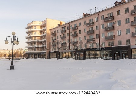 The streets and squares of Omsk square on the area of ??Buchholz
