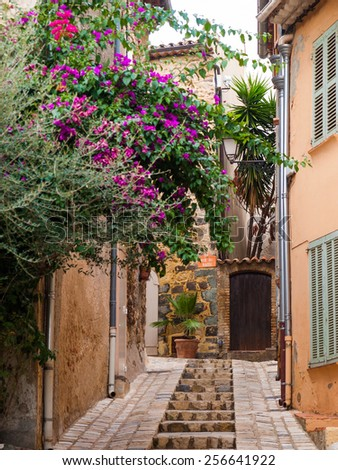 The streets of Grimaud, France
