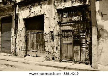 the streets of habana - stock photo