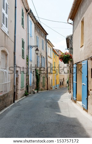 The streets of old town in Provence, France - stock photo