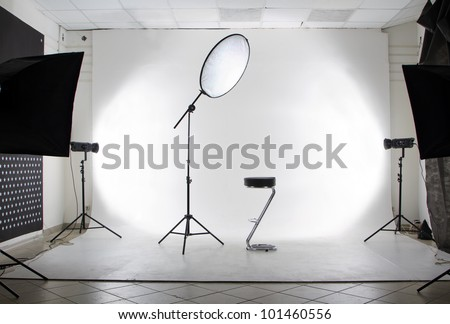 The studio - stock photo