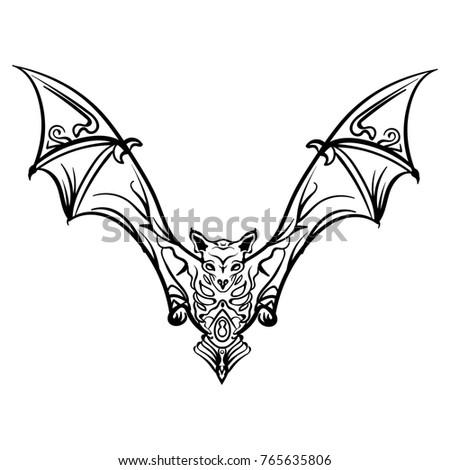 Vampire Bat Tattoo Stock Images Royalty-Free Images U0026 Vectors | Shutterstock