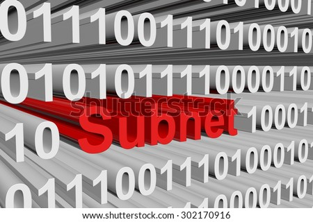 The subnet mask is represented as a binary code