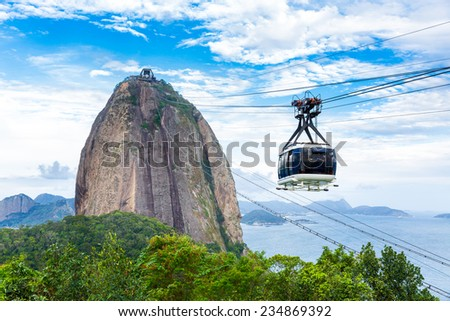 The Sugarloaf Mountain in Rio de Janeiro, Brazil - stock photo