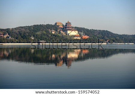 The Summer palace under the sunshine in Beijing, China - stock photo