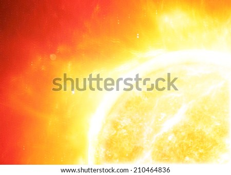The sun in space. - stock photo