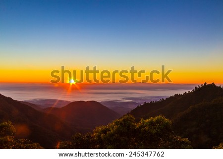 The sun rise in the morning. - stock photo