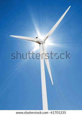 The sun shining on a coudless day - stock photo