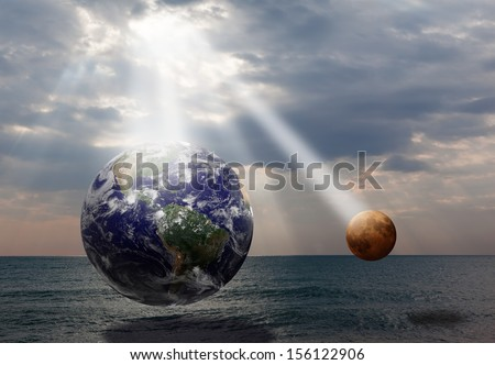 "the sun the source of life""Elements of this image furnished by NASA"