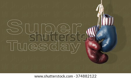 The Super Tuesday in the United States of America - stock photo