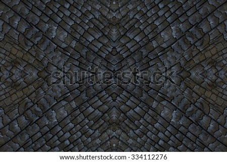 The surface of bark were burned. - stock photo
