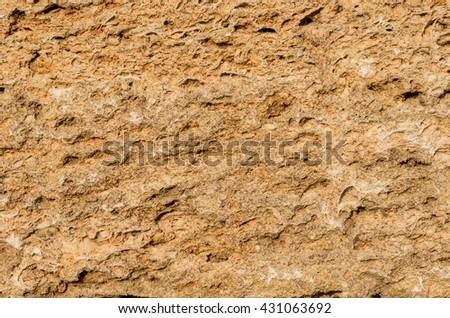 The surface of the sandstone. Sandstone texture.