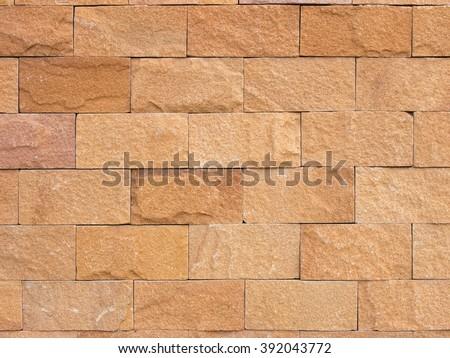 the surface stone Cladding brick wall, beautiful brick wall background texture - stock photo