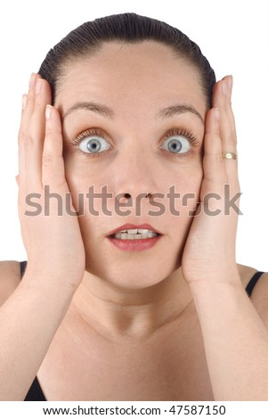 The surprised woman - stock photo