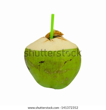 the sweet Coconut Water Drink - stock photo