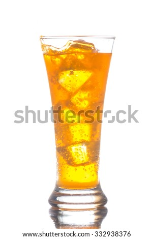 The sweet cooled drink with ice