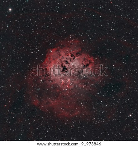 The Tadpole Nebula, IC 410, a Bright Nebula in the Constellation Auriga
