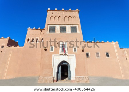 The Taourirt Kasbah in Ouarzazate in Morocco is one of the most impressive monuments in Morocco.