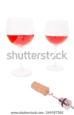 The taste of the wine just uncorked - stock photo