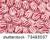 the tasty red white bonbons - stock photo