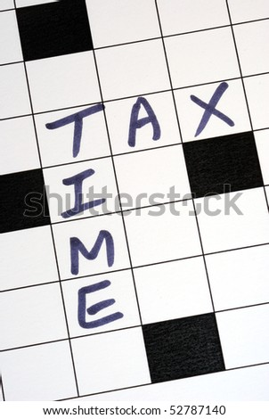 The tax time for the income tax return - stock photo