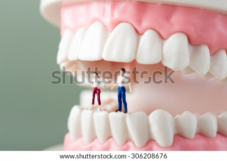 The teeth of the image