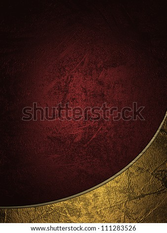 The template for the inscription. Red background with gold edges. - stock photo
