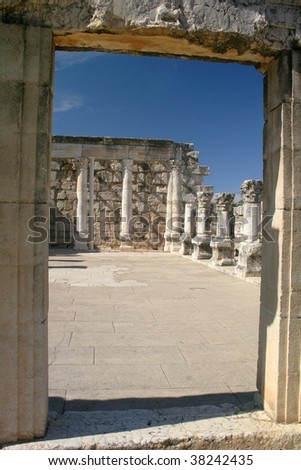 The Temple at Capernaum, Israel