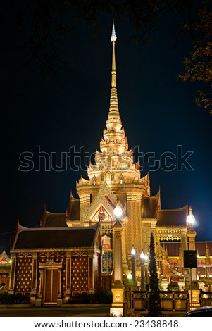 The Temple built for the King's sisther funeral, near the wat phra kaeo temple,  Bangkok, Thailandia.