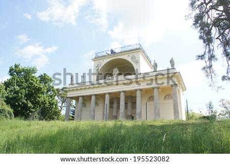 the Temple of Apollo, Lednice, Valtice, Moravia, Czech republic - stock photo