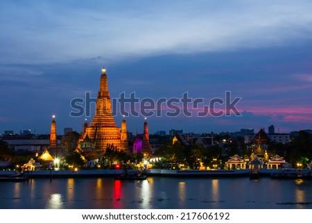 The Temple of Dawn (Wat Arun) - stock photo
