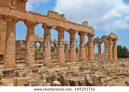 The Temple of Zeus at Cyrene, archeology, Libya              - stock photo